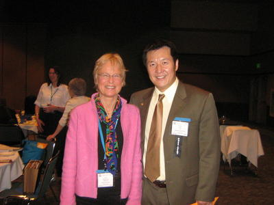 TESOL President 2006-2007 Jun Lui and Marianne Raynaud